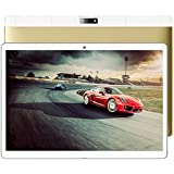 10.1 inch Android Tablet PC,2GB RAM 32GB Storage Phablet Tablet Quad Core Unlocked 3G Cell Phone Tablets, Dual Camera Sim Card Slots, WiFi, GPS, Blue-Tooth 4.0,HD IPS Screen Display(Luxury Gold)