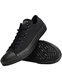 Unisex Chuck Taylor All Star Low Top Black Sneakers - 8 8...