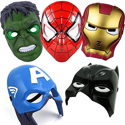 GFDay Superhero The Avengers Costume LED Glowing Light Eye Mask