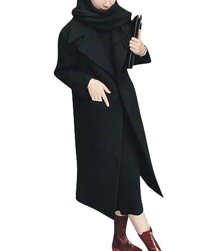 Mujer Abrigo Cuello Grande Manga Larga Chaqueta