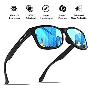 Mens Polarized Sunglasses - Momentum Memory Material Durable & Lightweight