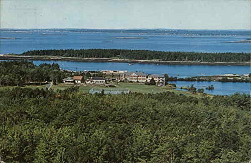 - View from Mt. Merritt - Sebasco Lodge and Cottages Sebasco Estates, Maine Original Vintage Postcard