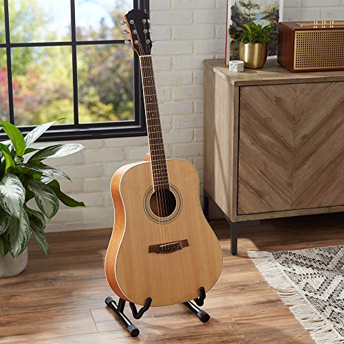 AmazonBasics Beginner Acoustic Guitar with Strings, Picks, Tuner, Strap, and Case – 41-Inch, Spruce and Okoume