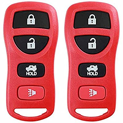 KeylessOption Keyless Entry Remote Control Car Key Fob Replacement for KBRASTU15-Red (Pack of 2): Automotive