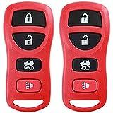 KeylessOption Keyless Entry Remote Control Car Key Fob Replacement for KBRASTU15-Red (Pack of 2)