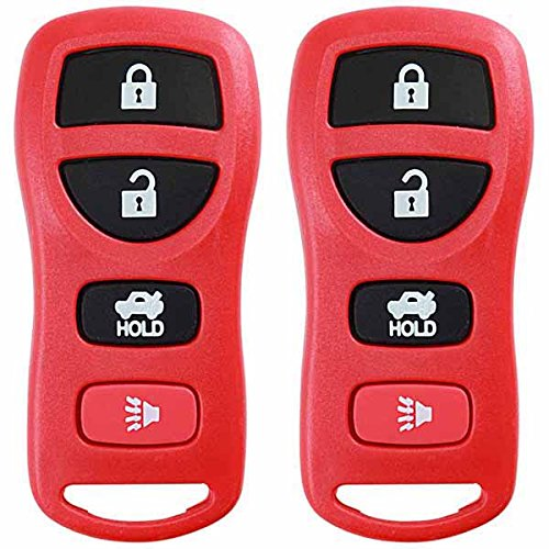 KeylessOption Keyless Entry Remote Control Car Key Fob Replacement for KBRASTU15-Red (Pack of 2)