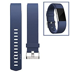 Replacement Bands for Fitbit Charge 2, Fitbit Charge2 Wristbands,Large,Navyblue