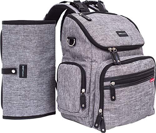 Baby Nation Diaper Backpack - Large Capacity Diaper Bag Organizer Unisex