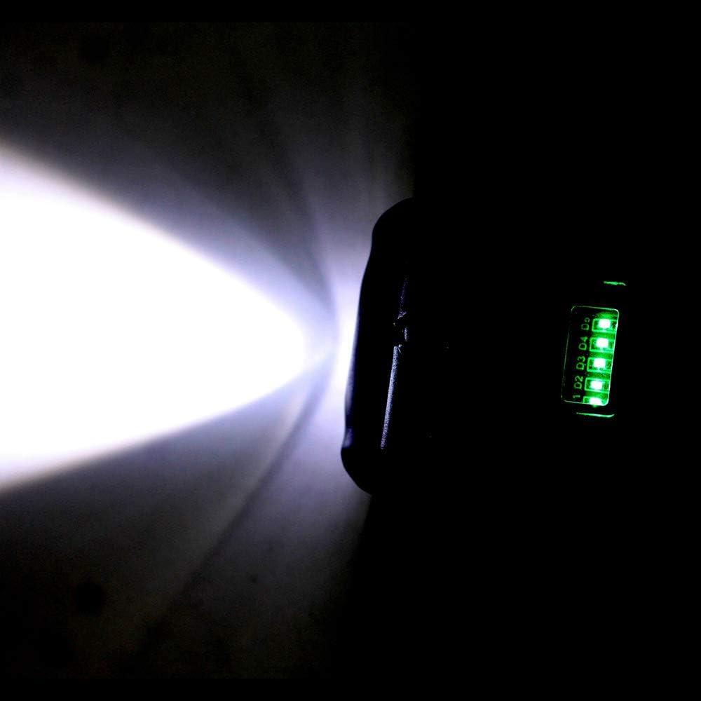 KKmoon Led Taschenlampe 3W 150Lumen LED COB Arbeitsleuchte Werkstattlampe USB Ladevorgang mit Haken zum Aufh/ängen und Magnet Basis f/ür Auto Reparatur Camping Wandern Werkstatt Garage Notbeleuchtung