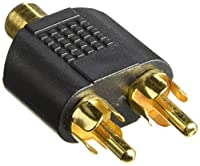 Monoprice 107195 RCA Jack to 2 RCA Plug Splitter Adaptor, Gold Plated