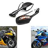 MZS Motorcycle Turn Signals Rear View Mirrors for Suzuki GSXR600 GSX-R600 2006-2017,GSXR750 GSX-R750 2006-2017,GSXR1000 GSX-R1000 2002-2017,SV650 SV650S 2003-2008,SV1000 SV1000S 2003-2007