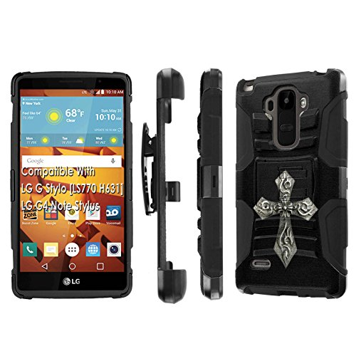 Click to buy LG G Stylo [LS 770 H631], [NakedShield] [Black/Black] Holster Armor Tough Case - [Cross] for LG G Stylo LS770 - From only $12.79