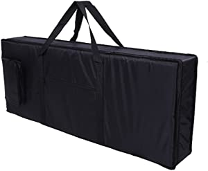 "Tosnail 61-note Keyboard Gig Bag Piano Case Padded with 6mm Cotton - 39'' x 16"" x 6'' (61 Note Keyboard)"