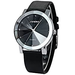 Mix&Rock SINOBI Crystal Inlaid White Leather Band Quartz Dress Couple's Women Gift Watch