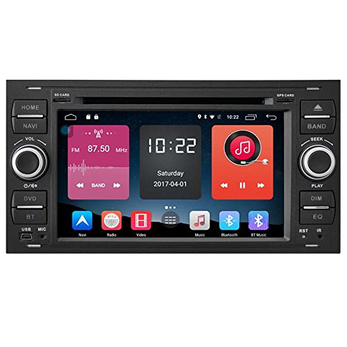 Autosion In Dash Android 6.0 Car DVD Player Sat Nav Radio Head Unit GPS Navigation Stereo for Ford Focus Fiesta Fusion C-Max Galaxy Tourneo Transit Kuga Support Bluetooth SD USB Radio OBD WIFI DVR by Autosion