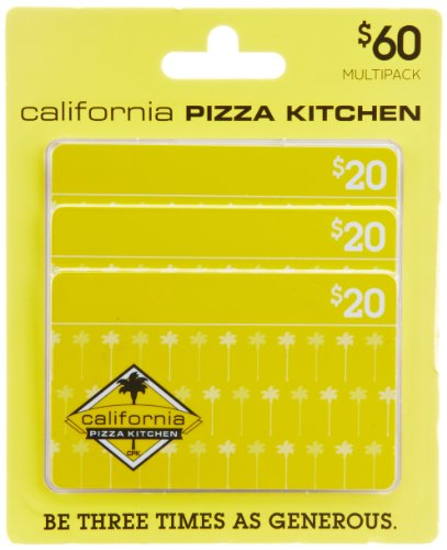 - California Pizza Kitchen Gift Cards, Multipack of 3 - $20