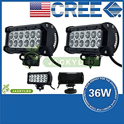 JACKY LED 27W/36W Flood Beam LED Work Off Road Lamp Light for Working / Driving / Fog, Off Road Flood light-Jeep Cabin, Boat, SUV, Truck, Car, ATVs Fishing 4WD 4x4 Driving Light Waterproof