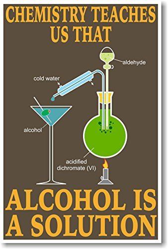 amazon com alcohol is a solution new funny science chemistry