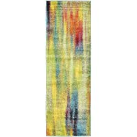 Unique Loom Lyon Collection Multi 2 x 6 Runner Area Rug (2 x 6)