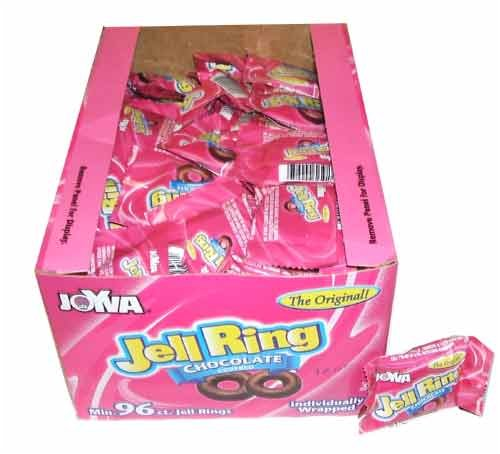 Chocolate Covered Jelly Rings by Joyva 96 Piece Individually Wrapped - Jelly Rings Chocolate