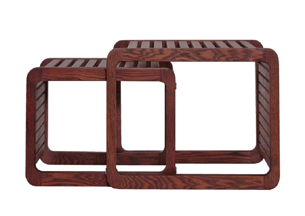 サイドテーブル おしゃれ 木製 ネストテーブル (大1個+小1個) B075DYZLRP