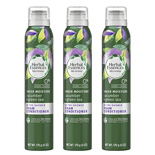 (Herbal Essences Foam Conditioner, BioRenew Cucumber & Green Tea, 6 oz (Triple Pack) )