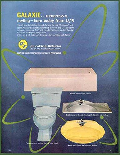 (1964 AD for Galaxie Universal-RUNDLE Plumbing FIXTURES Original Paper Ephemera Authentic Vintage Print Magazine Ad/Article)