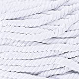 Twisted 3 Strand Natural Cotton Rope Artisan Cord By West Coast Paracord – 1/4, 1/2, 5/8, 3/4 & 1 inch Diameters – Super Soft White and Assorted Colors by the foot – 10, 25, 50, 100 Feet
