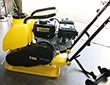 9TRADING 6.5HP Gas Power HD Plate Compactor Tamper Rammer with Water Tank