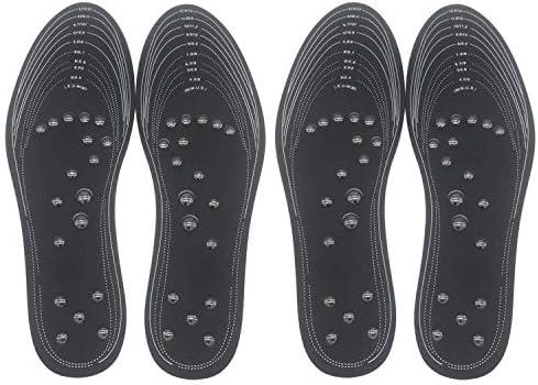 WINTHAI Magnetische Einlegesohlen, Euphoric Feet,2 Para Cotton Fußpflege mit 18 Magneten Magnetfeldtherapie Akupressur Massage Schuheinlagen Pads Memory Foam Fußpflege Kissen für 6-14 Size Schwarz