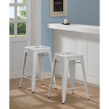 Tabouret 3503-24 24-inch White Metal Counter Stools (Set of 2)  sc 1 st  Amazon.com & Amazon.com: Tabouret 3503-24 24-inch White Metal Counter Stools ... islam-shia.org