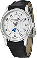 Frederique Constant Runabout Moonphase White Dial Black Leather Mens Watch FC-330RM6B6 from Frederique Constant