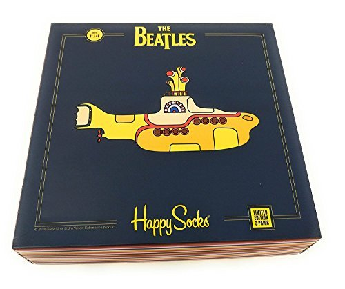The Beatles Happy Socks Limited Edition Yellow Submarine 3 Pair EP Collector's Box (Multi, 8-12)