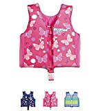 Kids Swim Vest Pool Floats - Swimming Floatation Vest for Toddlers & Kids by Floaties (Pink, Large)