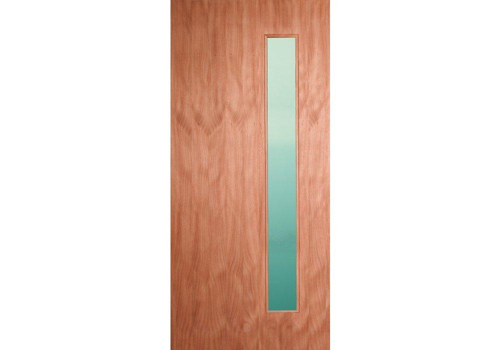 Eto Doors Corp Leptos Exterior Mahogany Solid Wood Entry Door With
