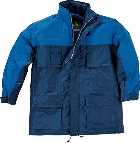 Delta Plus- Kingston Parka Polyester Enduit Pvc Bleu Marine / Bleu Roi T.m-kingsbltm
