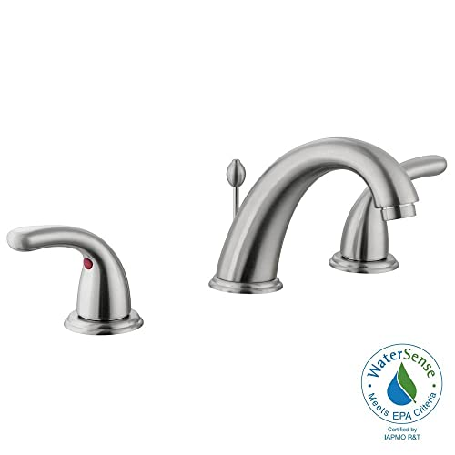 Glacier Bay Builders Eight-Inch Widespread Two-Handle High-Arc Faucet