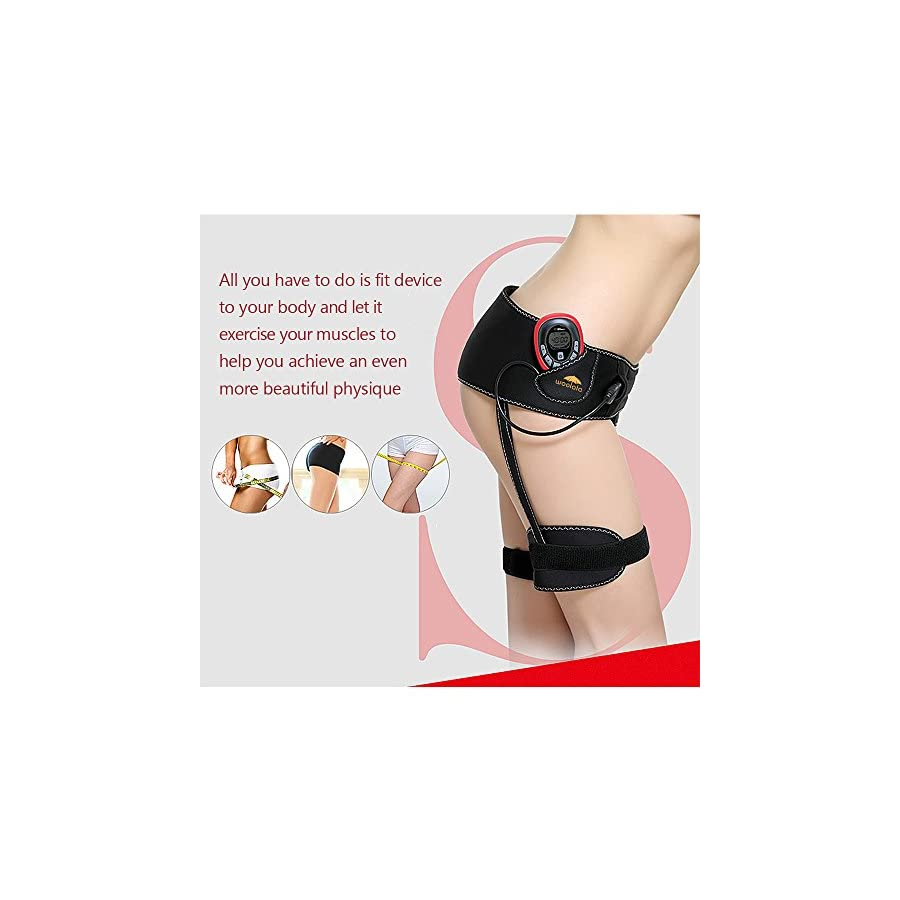Woolala Bottom Toner, Hip & Thigh Muscle Trainer Electrical Stimulation Keep Fitness Body Massage Shaper and Cellulite Removal