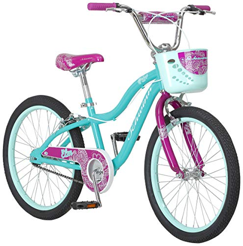 Schwinn Elm Girl's Bike, Featuring SmartStart Frame to Fit Your Child's Proportions, 20inches Wheels, Teal (Kids Bike 20 Girls)