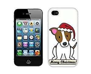 Special Custom Made Christmas Dog White iPhone 4 4S Case 14