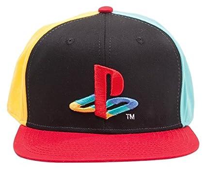 acada7af Playstation Official Original Coloured Logo Black Snapback Cap Hat ...