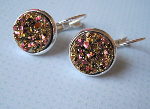 silver-tone-leverback-drop-earrings-12mm-gold-and-pink-faux-druzy-stone