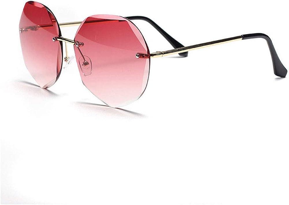 Lunettes de soleil polarisées classiques pour femmes, monture surdimensionnée avec protection 100% UVA UVB pour la conduite de voyages en extérieur, rouge dégradé Vin Rouge Dégradé