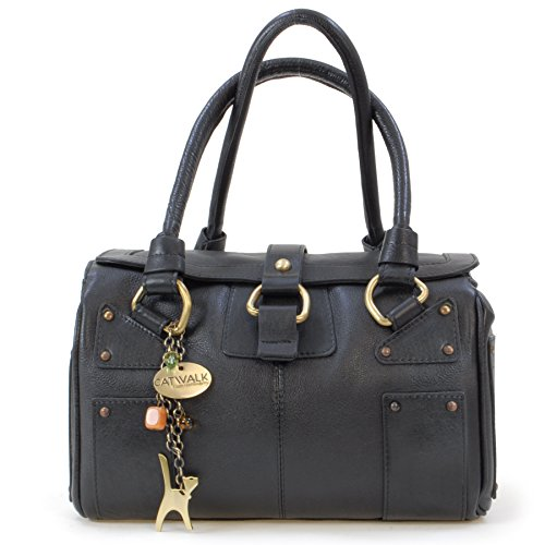 6fb571d008 Nero A Marrone Borsa Di Spalla Pelle Catwalk In Collection