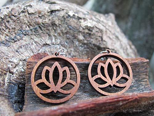Circle Hoop Wooden earrings