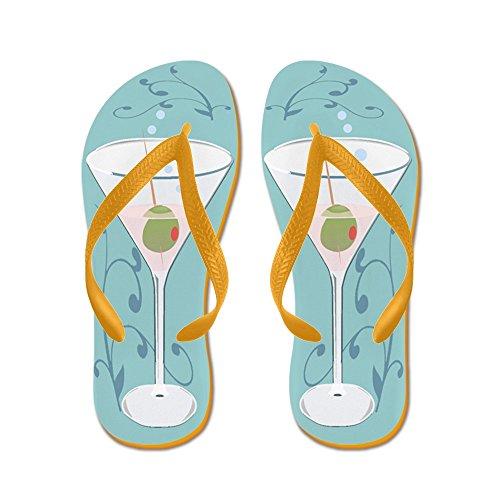 CafePress - Martini - Flip Flops, Funny Thong Sandals, Beach Sandals Orange