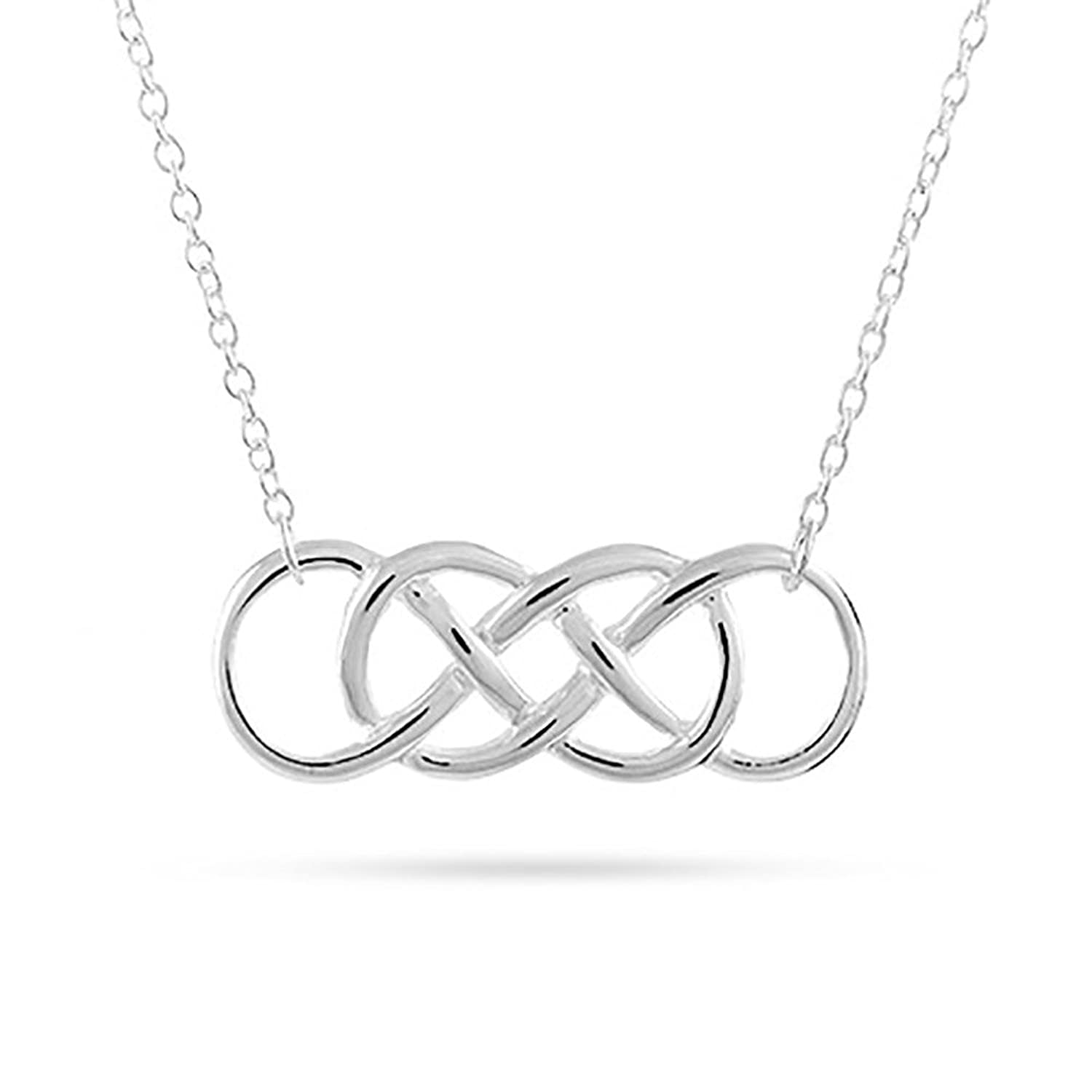 Amazon sterling silver double infinity symbol necklace chain amazon sterling silver double infinity symbol necklace chain necklaces jewelry biocorpaavc Image collections