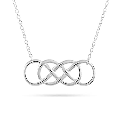 Amazon Sterling Silver Double Infinity Symbol Necklace Chain