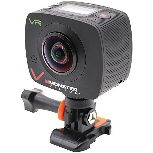 Monster Vision Virtual Reality Camera [VR Goggle, Facebook 360, YouTube 360 Compatible] Includes Dual Lenses and Wireless Uploading [CAMVR-0360-A] Monster Power, LLC