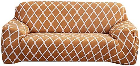 BOENTA Funda Elastica Sofas Fundas de Sofa Anti Gatos Sillón de la Cubierta Sofá Cubierta de Asiento Cubierta de sofá elástico Sofás Cubre 145-185,Gold Yellow: Amazon.es: Hogar